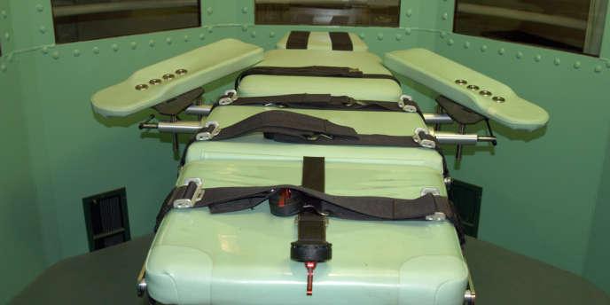 Une salle d'exécution, dans la prison de San Quentin, en Californie.