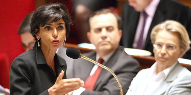 Rachida Dati à l'Assemblée nationale, quand elle était ministre de la justice.
