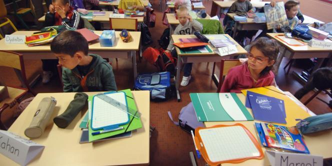 Rentrée scolaire à Hérouville-Saint-Clair en août 2006.
