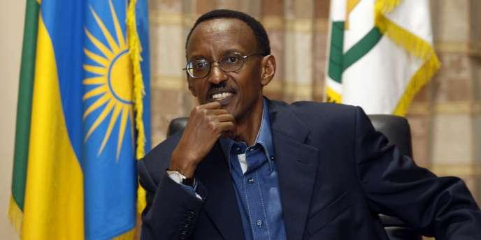 Le président rwandais, Paul Kagame, le 26 janvier 2008, à Kigali.