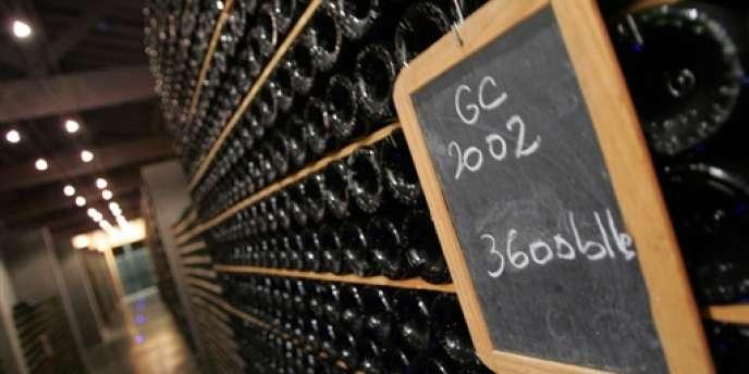 Les caves du château Dassault, grand cru classé de Saint-Emilion, près de Bordeaux en avril 2007.