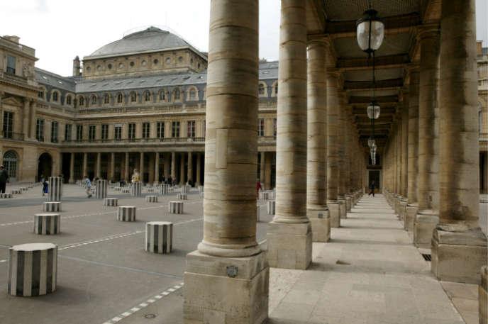 Vue de la cour intérieure du ministère de la culture, rue de Valois à Paris.