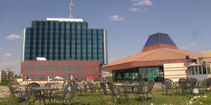 Vue non datée d'un hôtel international de la ville d'Erbil, au Kurdistan irakien.