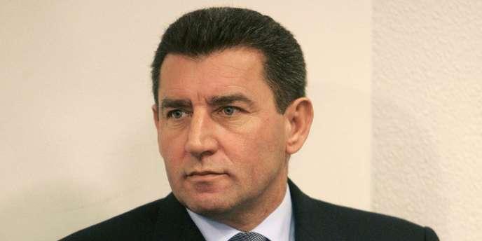 Le général franco-croate Ante Gotovina devant le Tribunal pénal international à La Haye, le 12 décembre 2005.