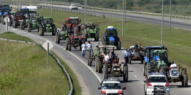 Une manifestation d'agriculteurs argentins à Cordoba, le 14 mars 2008.