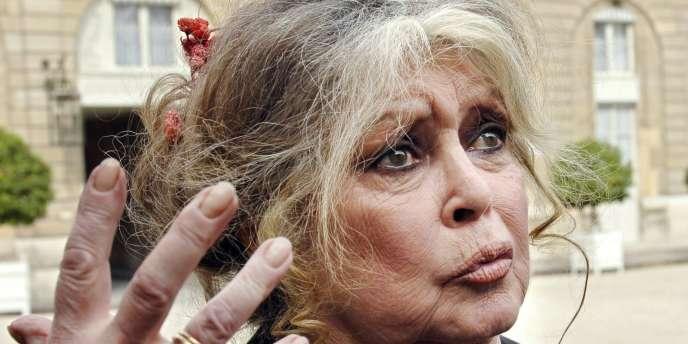 L'ancienne actrice et militante de la cause animale, Brigitte Bardot, à l'Elysée, en 2007.