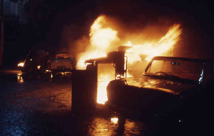 10 mai 1968. Barricades boulevard St Michel.