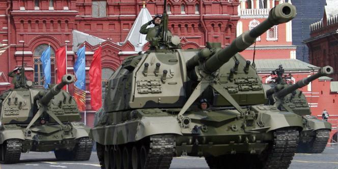 Parade de la Victoire à Moscou, le 9 mai 2008.