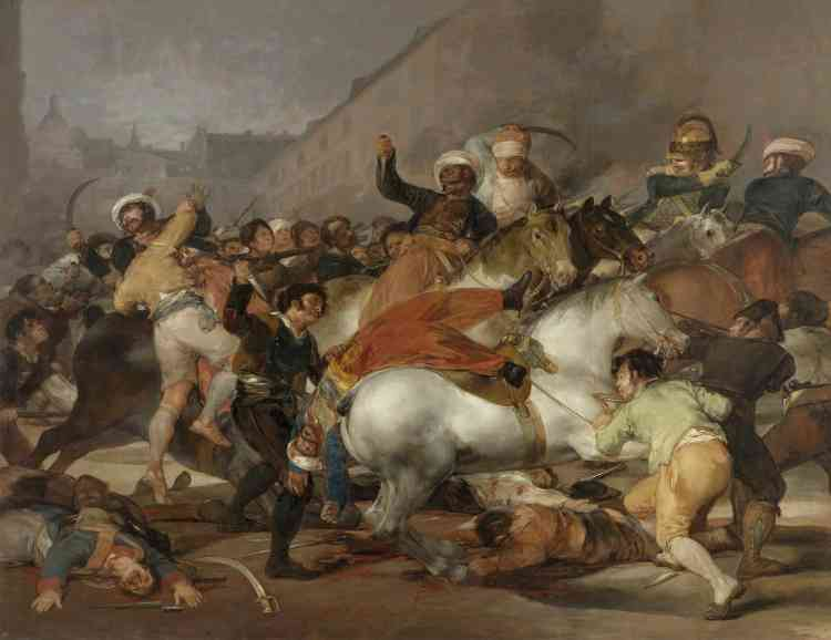 """""""Le 2 mai 1808 à Madrid : la bataille contre les Mamelucks"""", huile sur toile."""