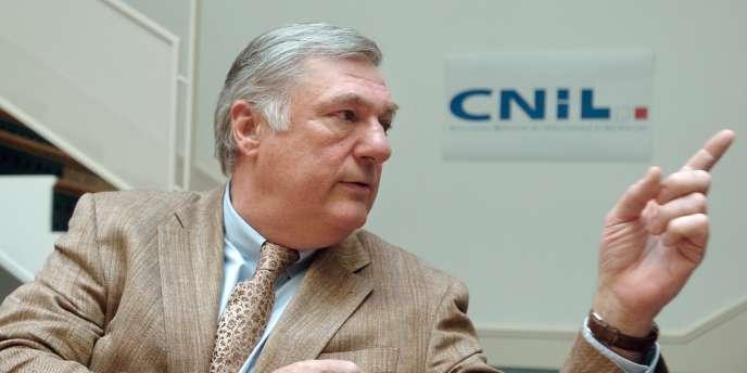 Alex Turk, président de la CNIL, le 16 mai 2008, à Paris.