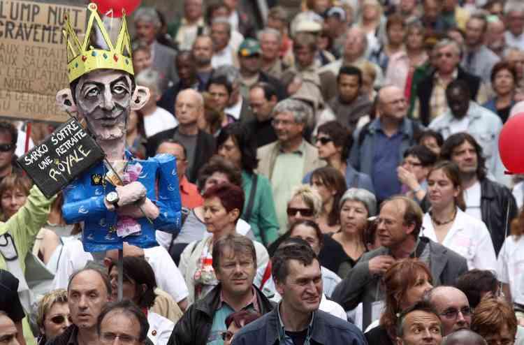 Manifestation du 22 mai à Paris, à l'appel de tous les syndicats, pour défendre les retraites.