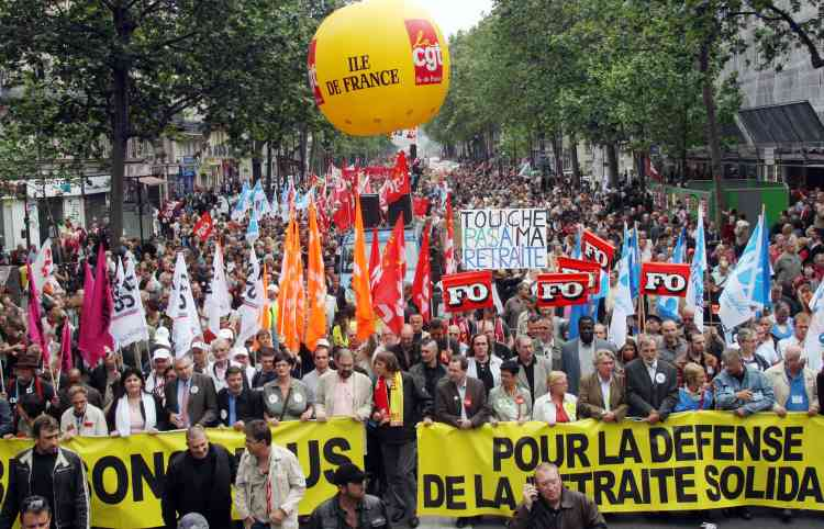 Manifestation pour la défense des retraites, jeudi 22 mai à Paris.