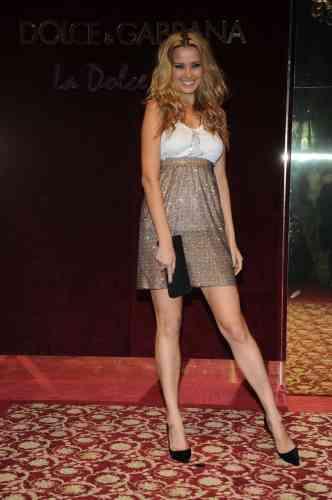 La top model Petra Nemcova, lors de la fête organisée par Dolce&Gabbana à Cannes, le 23 mai 2008.