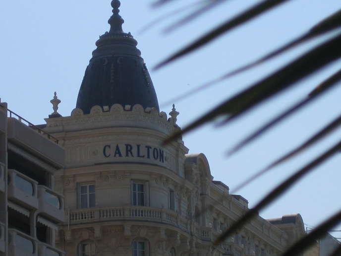 La façade du Carlton à Cannes, le 23 mai 2008.