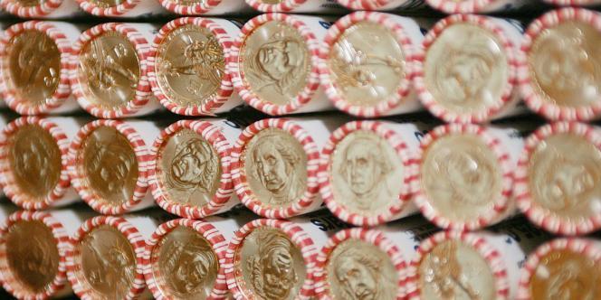 Rouleaux de nouvelles pièces de monnaie des Etats-Unis, le 15 février 2007.