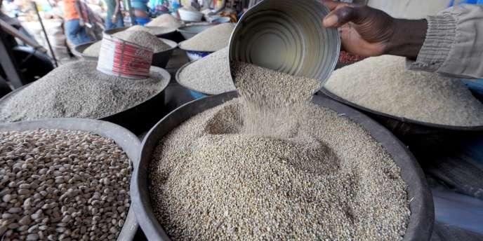 Sur le marché d'Abobo, en Côte d'Ivoire. Quelque 870 millions de personnes souffrent de sous-nutrition sur la planète, dont 852 millions dans les pays en développement.