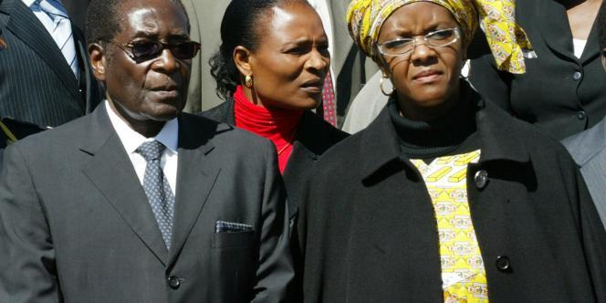Robert Mugabe et sa femme Grace le 14 juin.