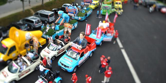 La caravane publicitaire du Tour de France en 2008.