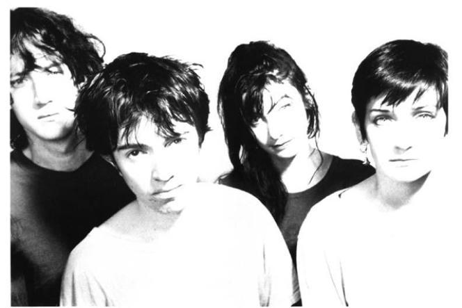 Le groupe My Bloody Valentine, à l'époque de leur premier album,