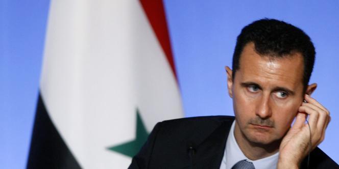 Le président syrien, Bachar Al-Assad, en juillet 2008.