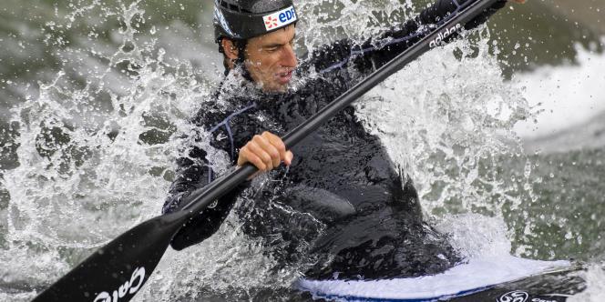 Tony Estanguet aux Jeux olympiques de 2008 à Pékin.