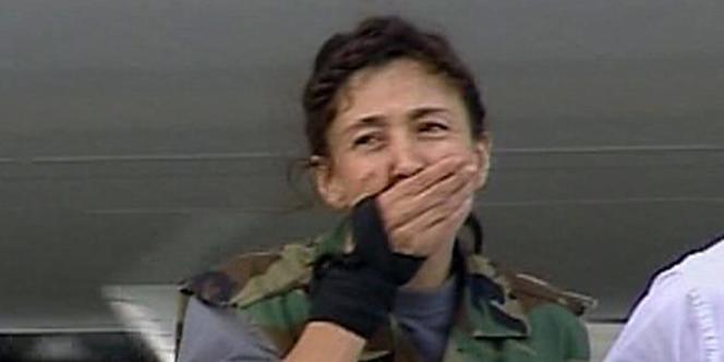 Ingrid Betancourt après sa libération lors de l'opération