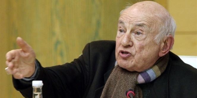 Le philosophe et sociologue Edgar Morin à Paris, le 2 février 2007.