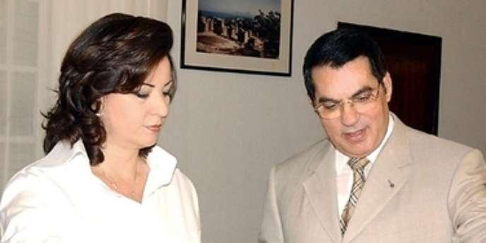Leïla Trabelsi et son époux Zine El-Abidine Ben Ali en 2004.