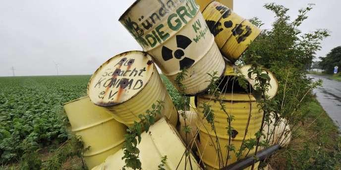 Des répliques de déchets nucléaires, en Allemagne.