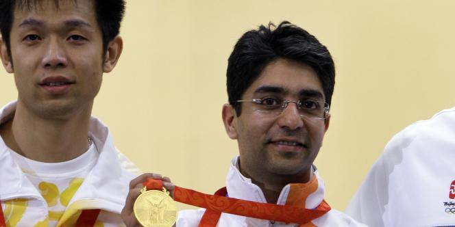 Abhinav Bindra, premier Indien à avoir remporté un titre olympique, le 11 août 2008 à Pékin.