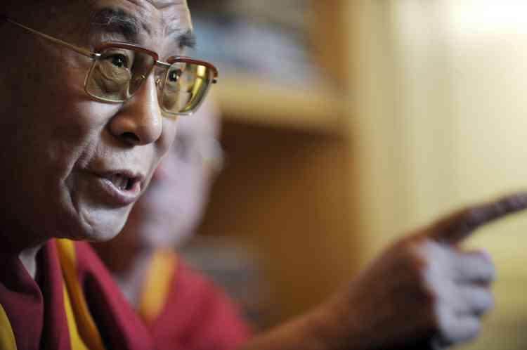 Le dalaï lama, au Sénat, le 13 août.