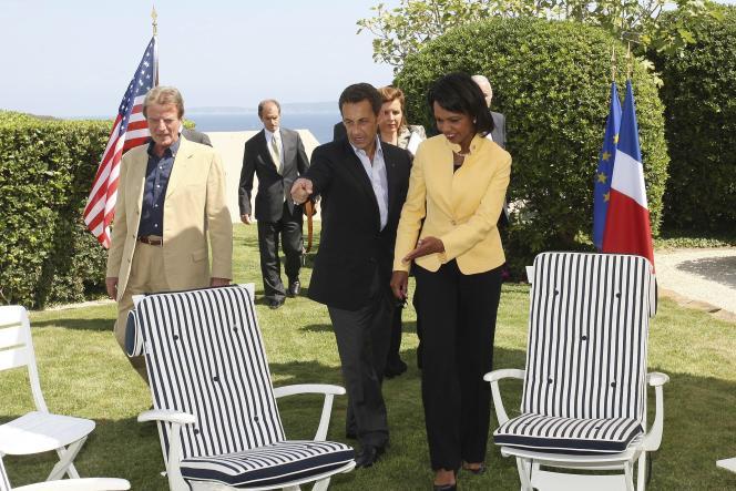 Nicolas Sarkozy et Condoleezza Rice se sont rencontrés à Brégançon, dans le Var, le 14 août, pour discuter de la situation en Géorgie.