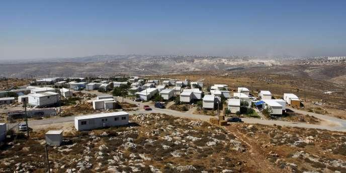 Vue générale de la colonie israélienne de Migron en Cisjordanie.