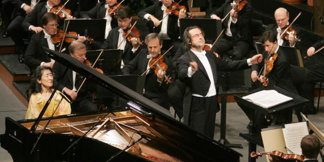 Un concert du chef d'orchestre Riccard Muti, à Salsbourg, en 2006.