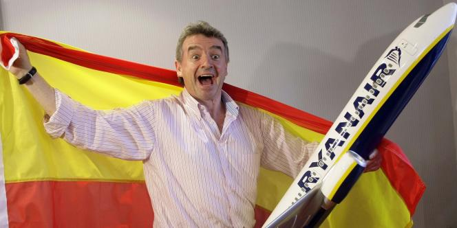 Michael O'Leary, PDG de Ryanair, à Madrid, le 20 août 2008.