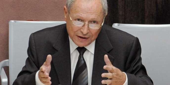 L'ancien président du Crédit lyonnais Jean Peyrelevade, lors de son audition devant la commission des finances de l'Assemblée nationale, le 10 septembre 2008.