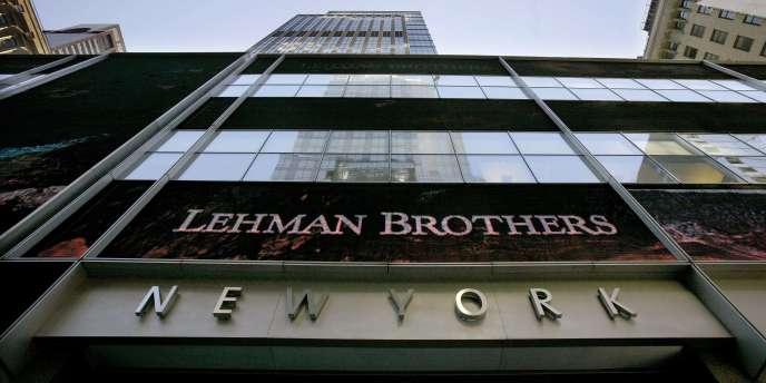 Le siège de la banque Lehman Brothers, à New York.