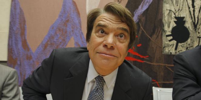 Bernard Tapie, lors de son audition à l'Assemblée nationale, dans le cadre de l'affaire Adidas, en septembre 2008.