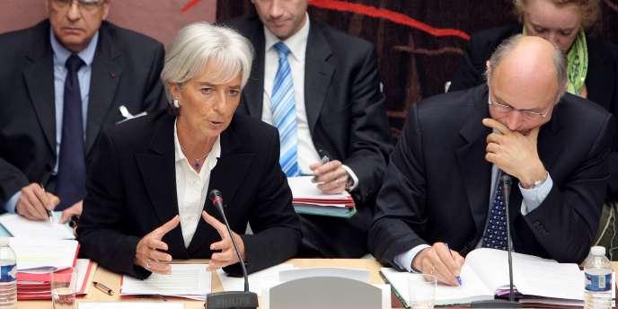 La ministre de l'économie, Christine Lagarde, lors de son audition le 23 septembre 2008 par la commission des finances de l'Assemblée nationale, sur les choix du recours à un arbitrage dans le cadre de l'affaire Adidas.