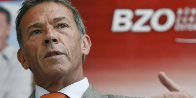 Jörg Haider, ancien leader du parti d'extrême droite autrichien BZÖ, lors d'une conférence de presse à Vienne, le 8 septembre 2008.