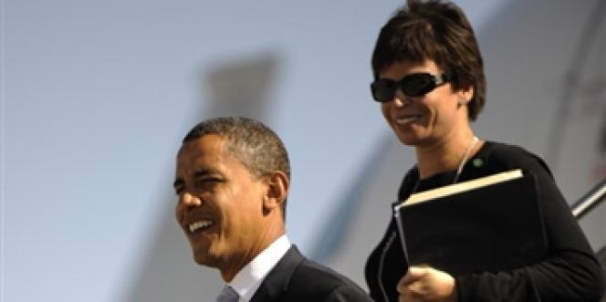 Valerie Jarrett et Barack Obama, en 2008