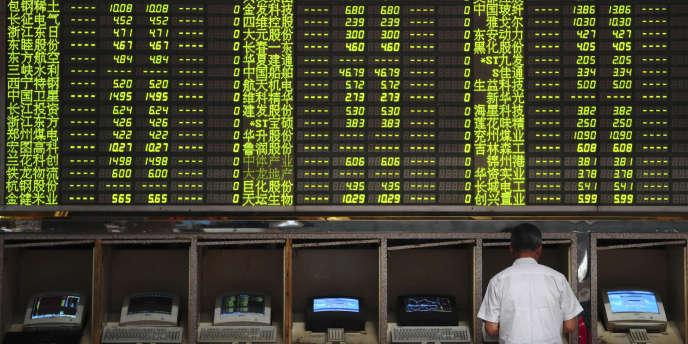 Les cours de la Bourse de Shanghaï en octobre 2008.