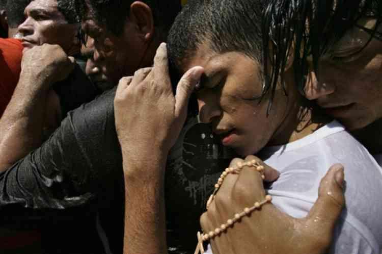 Pour célébrer la Vierge de Nazaré à Belem, les pèlerins arrivent de tous les Etats du Brésil ainsi que d'autres pays d'Amérique latine.