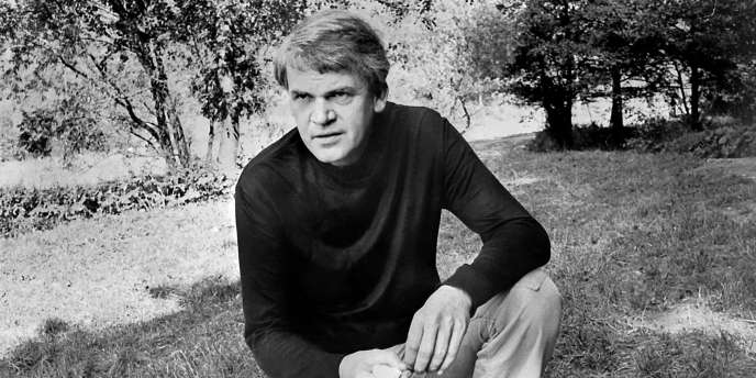 Milan Kundera à Prague, le 14 octobre 1973.