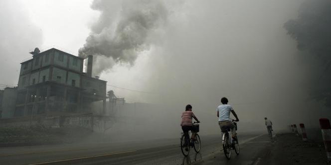 Une usine à Yutian, à 100 km à l'est de Pékin.