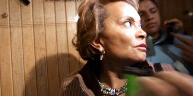 La patronne du syndicat des enseignants mexicains, Elba Esther Gordillo, à Mexico en décembre 2003.