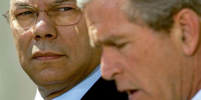 Colin Powell, lorsqu'il était secrétaire d'Etat du président républicain George Bush.