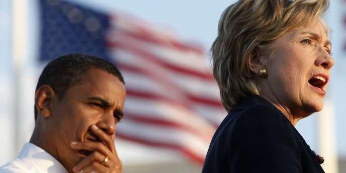 Barack Obama et Hilary Clinton, le 20 octobre 2008 en Floride.