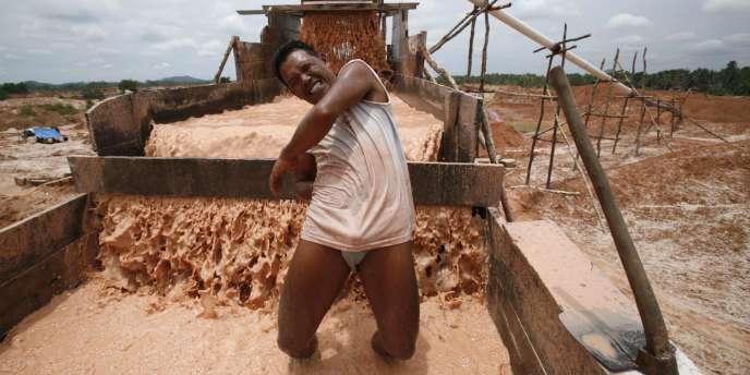 La mine de Timah, sur l'île de Bangka. L'Indonésie est premier exportateur mondial d'étain.