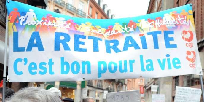 Défilé pour la hausse des pensions de retraite, en octobre 2008 à Toulouse.